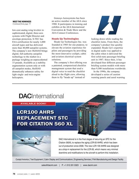 Avionics News March 2018