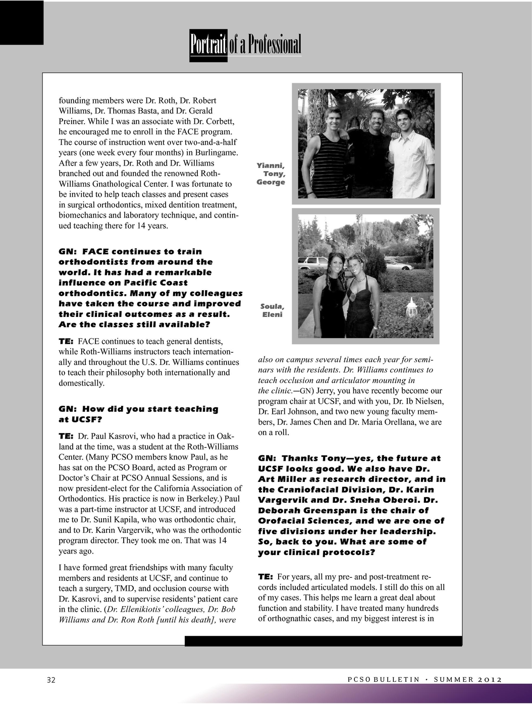 Pacific Coast Society of Orthodontists Bulletin Summer 2012