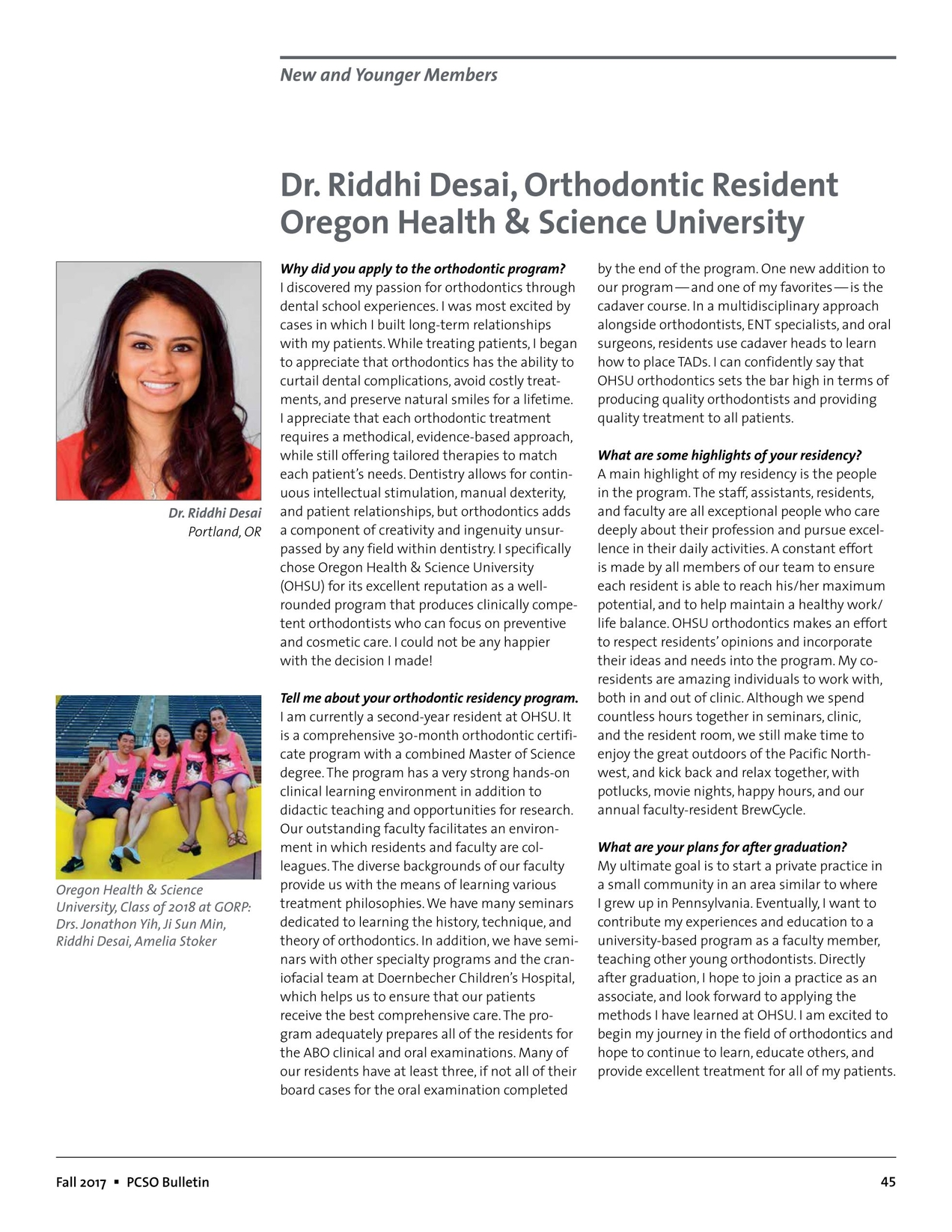 Pacific Coast Society of Orthodontists Bulletin Fall 2017
