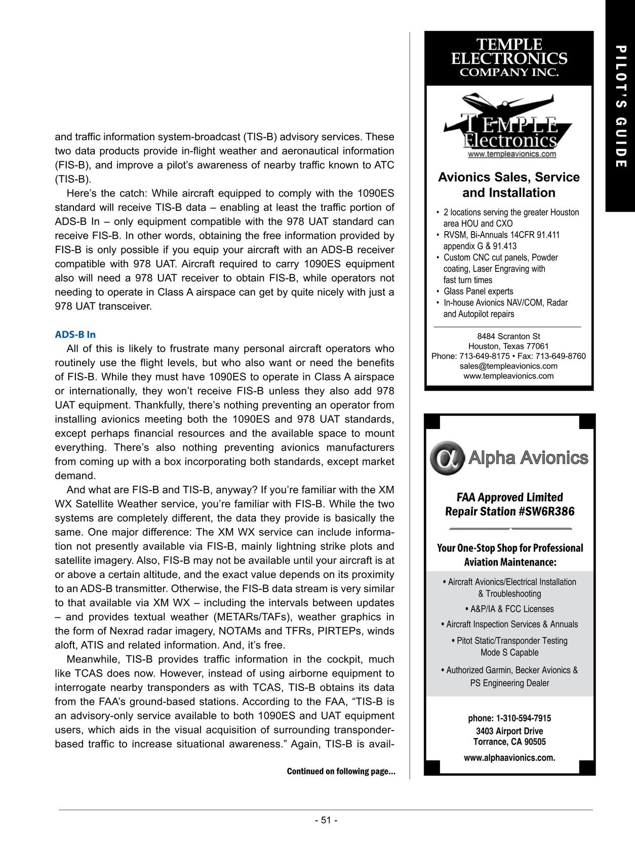 Pilot's Guide to Avionics 2012-2013