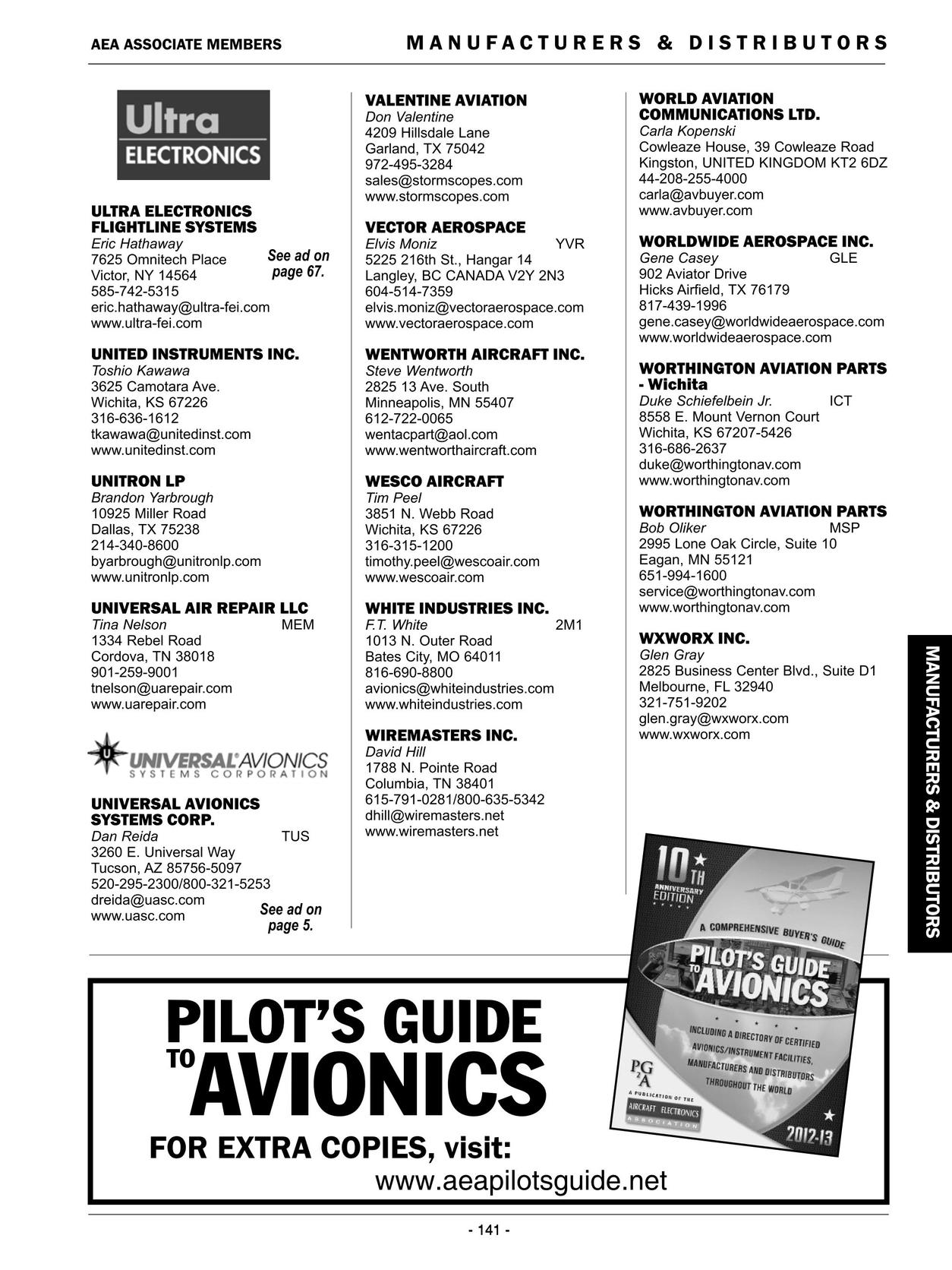 Pilot\'s Guide to Avionics 2012-2013