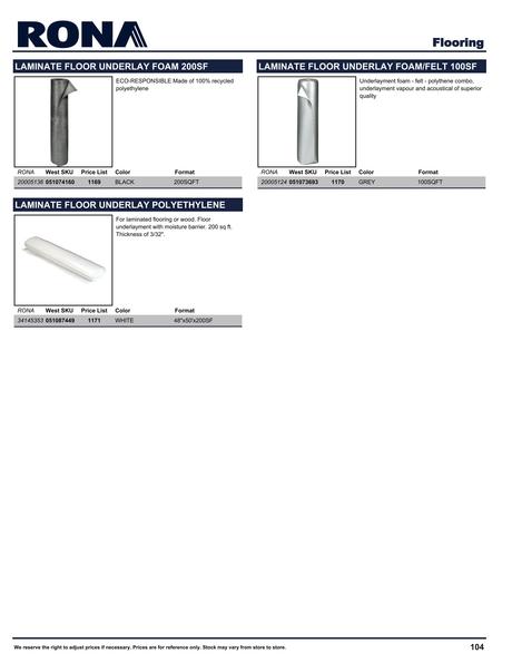 Rona Building Maintenance Catalogue Volume 1