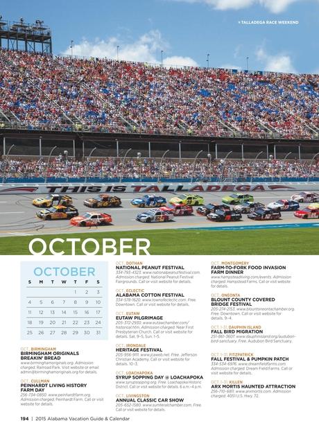 Official 2015 Alabama Vacation Guide & Calendar