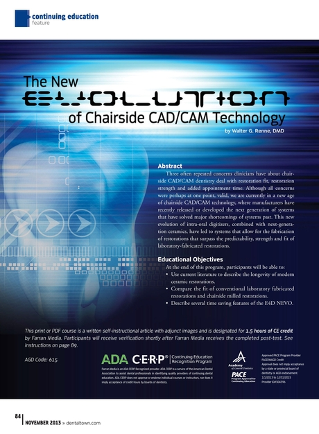 Dentaltown November 2013 - Continuing Education: The New Evolution ...