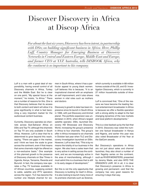 Disbook The Africa 2012 Edition