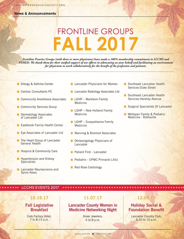 Lancaster Physician Fall 2017