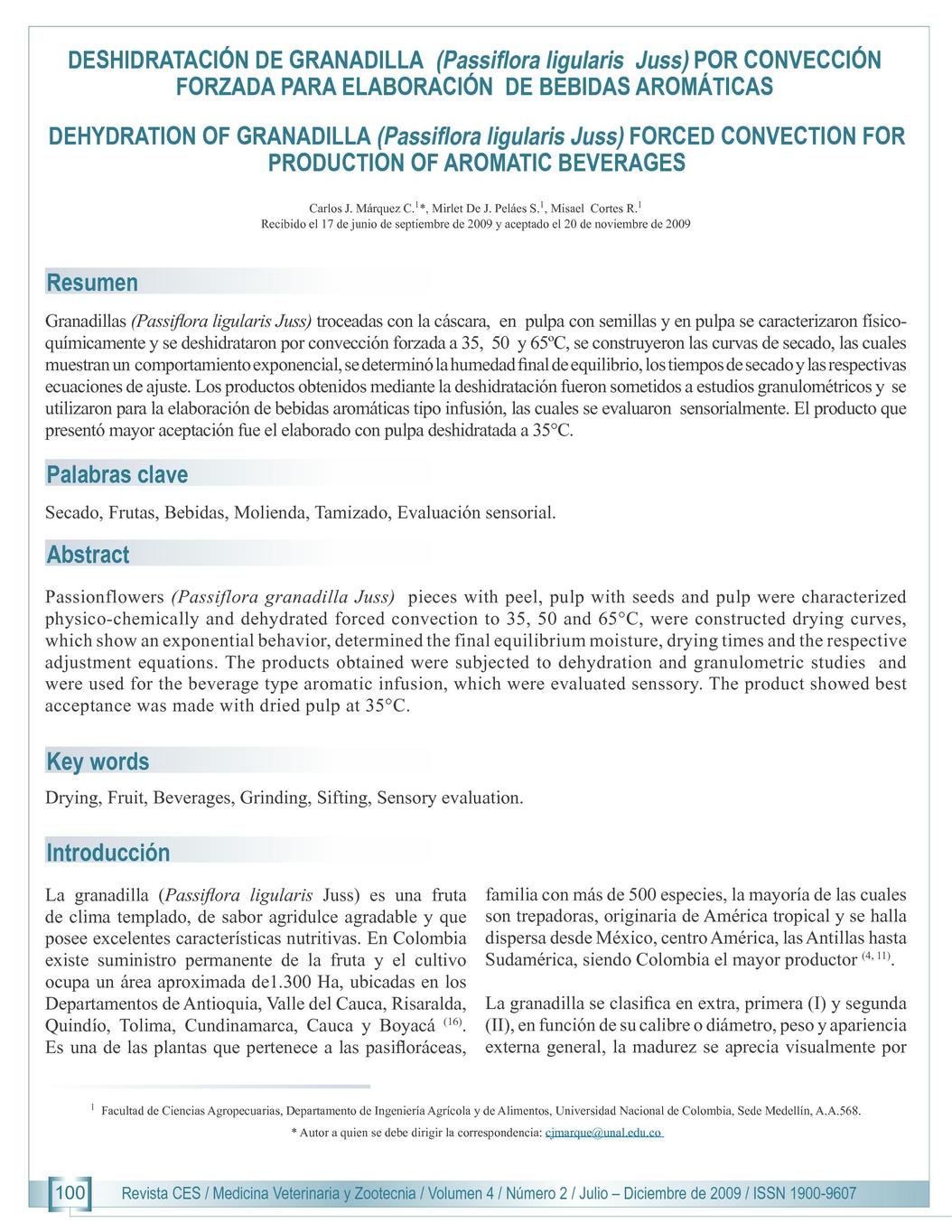 CES - Revista Veterinaria Julio - Diciembre 2009
