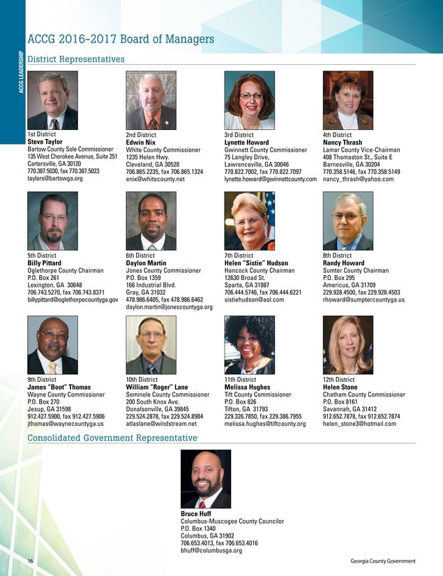 Georgia County Government - 2016 Member Services Guide