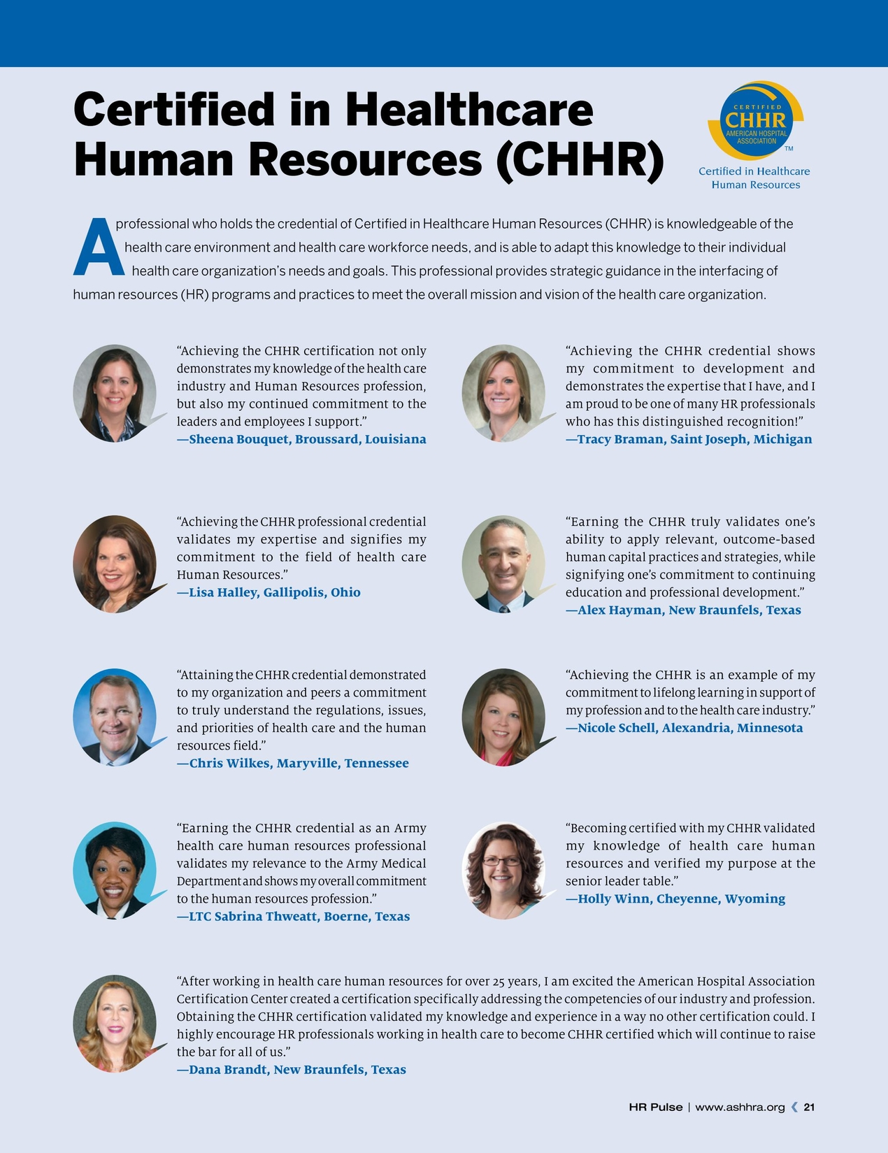 Hr pulse fall 2016 20 21 support and guidance an hr professional shares her experience earning the chhr designation an interview with debbie splinter chhr fache shrm scp 1betcityfo Image collections