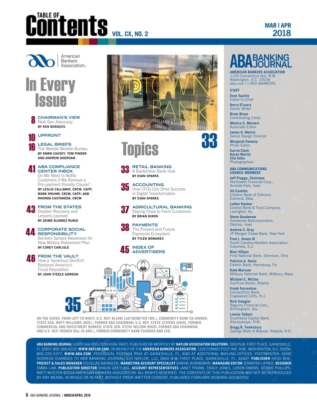 ABA Banking Journal - March/April 2018