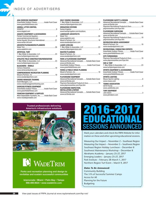 FRPA Journal - Fall 2016