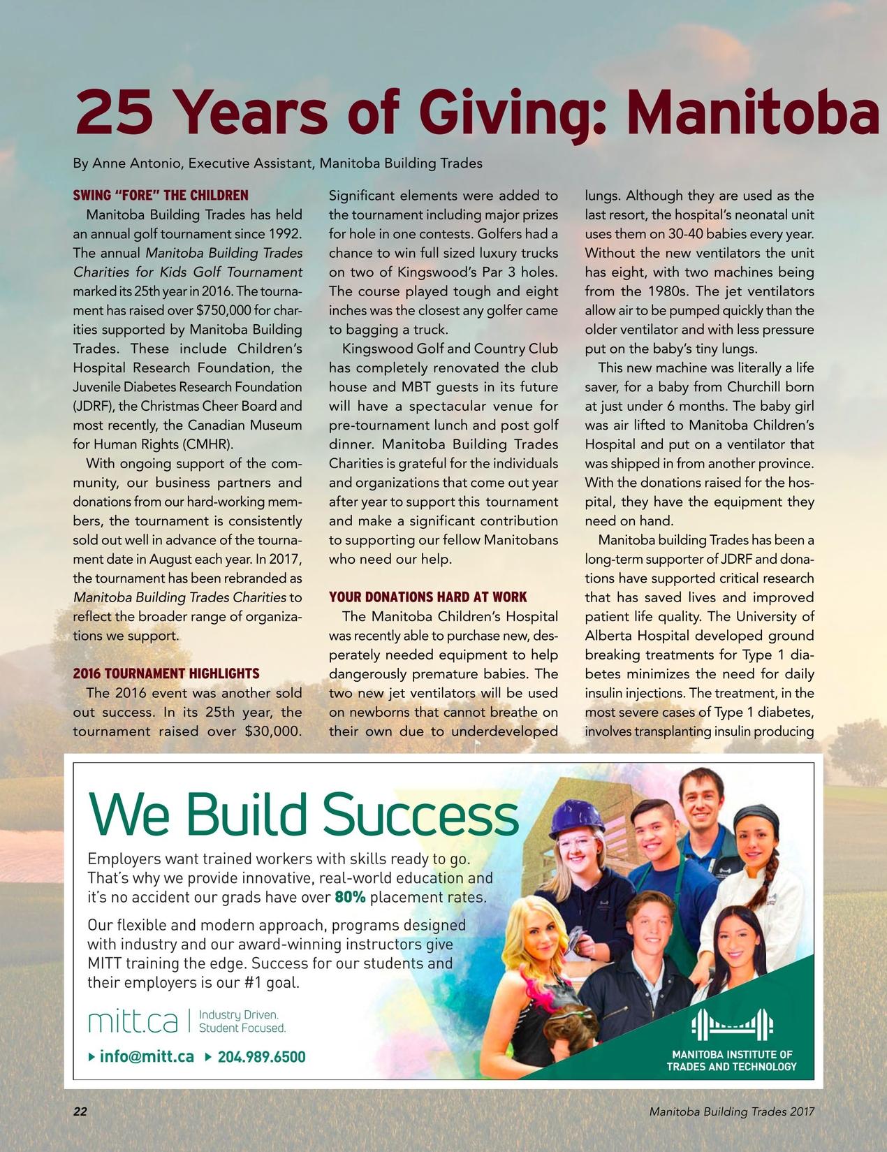 Manitoba Building Trades Yearbook - 2017