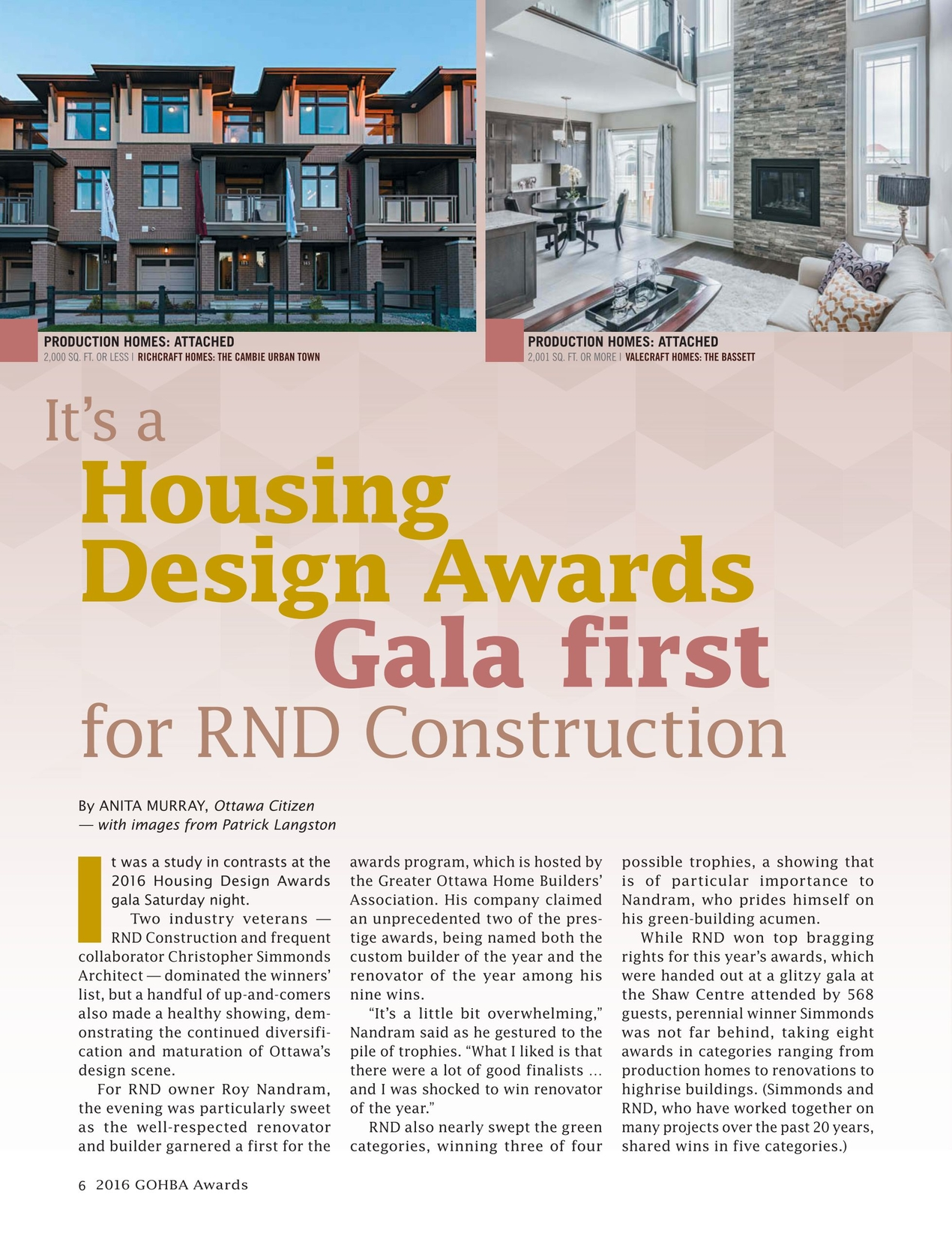 2016 GOHBA Housing Design Awards on royal design homes, green design homes, golden design homes,