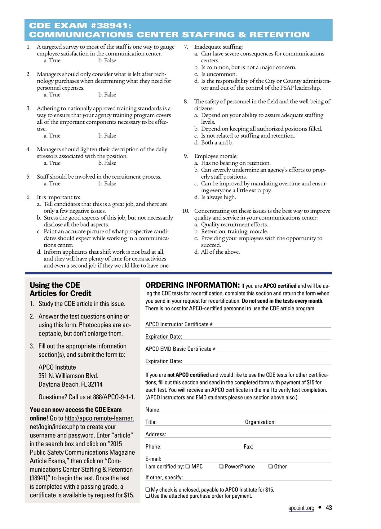 Public Safety Communications March 2015