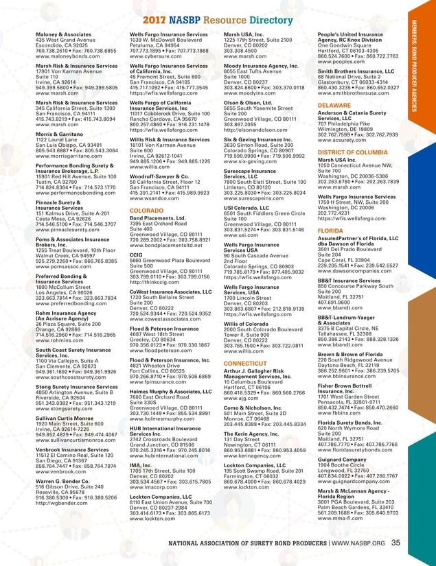 Surety Bond Quarterly - Fall 2017