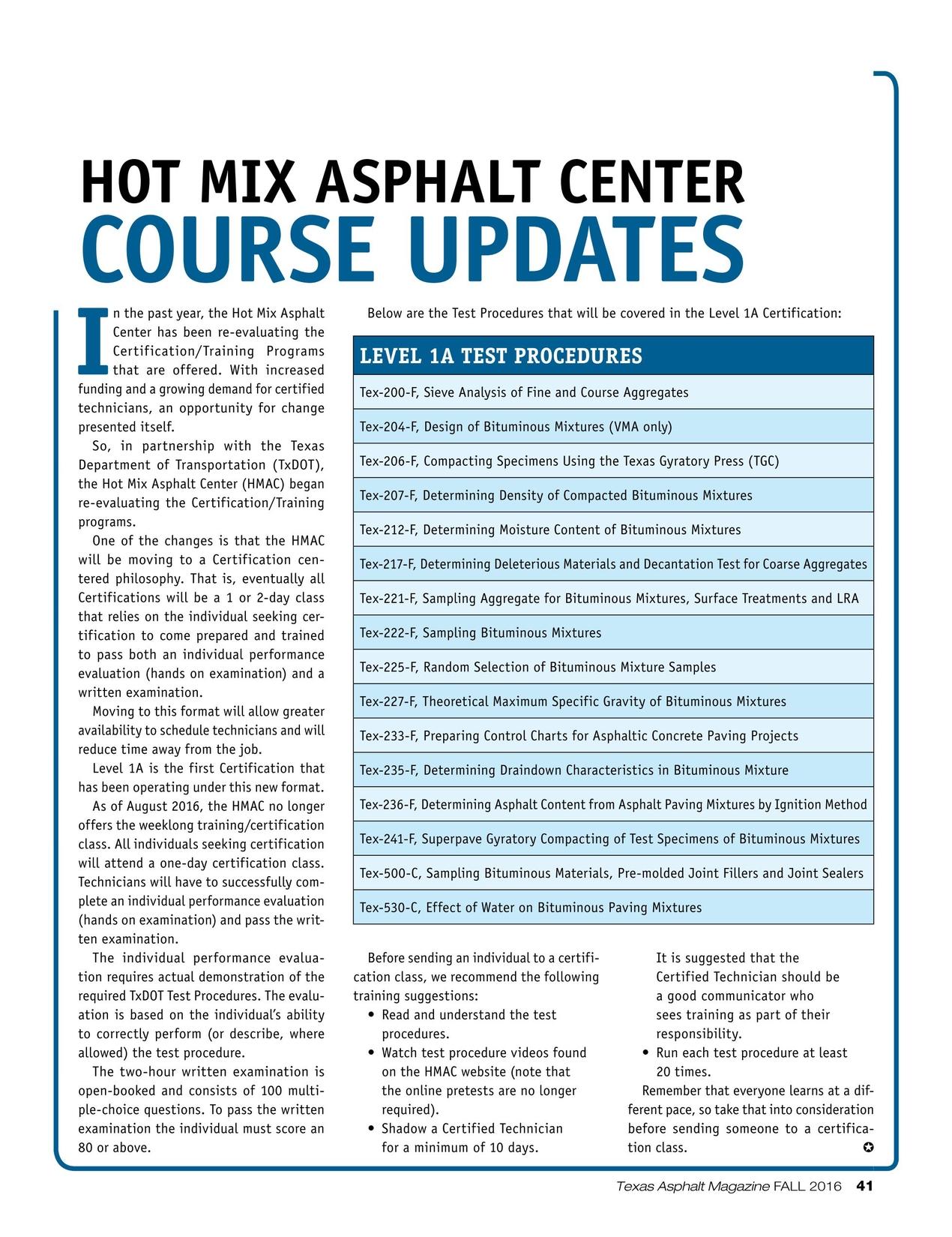 Texas Asphalt Fall 2016