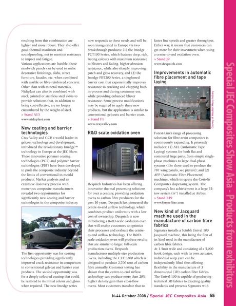 JEC COMPOSITES MAGAZINE - Issue #44 - October 2008 - Special