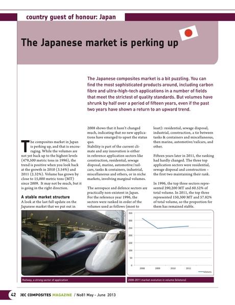 JEC COMPOSITES MAGAZINE - Issue #81 - May/June 2013