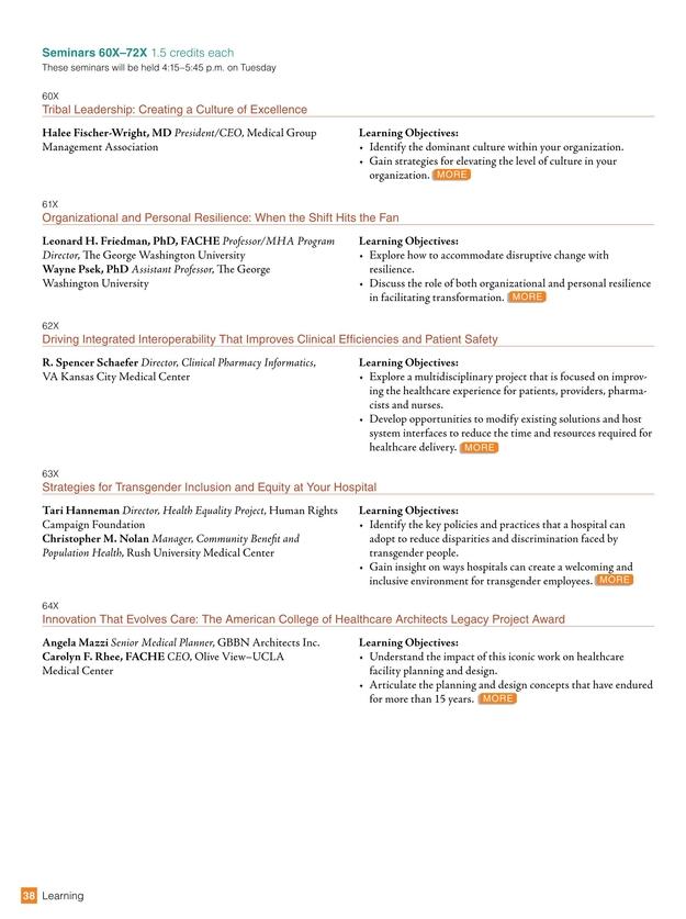 2017 Congress on Healthcare Leadership [37]