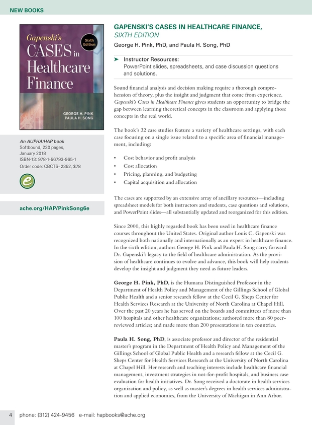Health administration press management catalog spring 2018 2 3 health administration press management catalog spring 2018 3 fandeluxe Choice Image