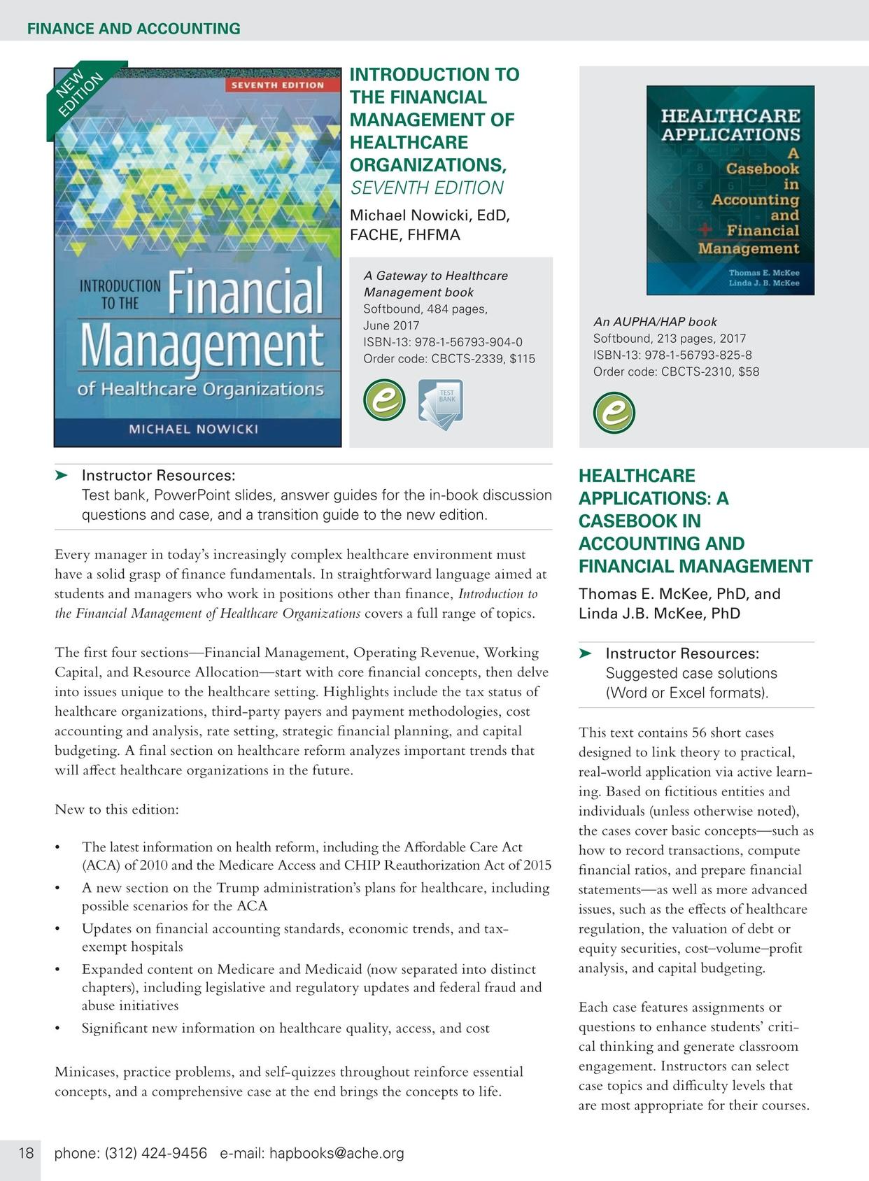 financial environment of healthcare organizations