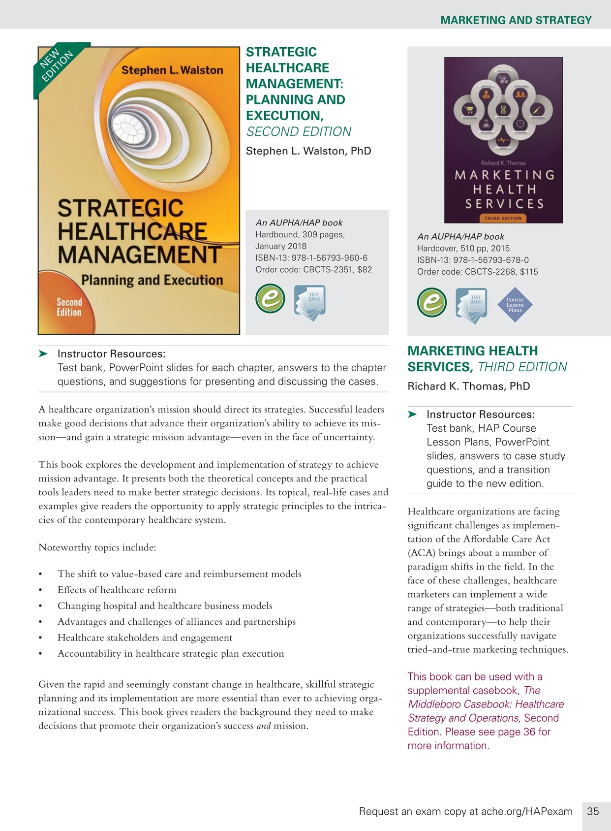 Health Administration Press Management Catalog - Spring 2018