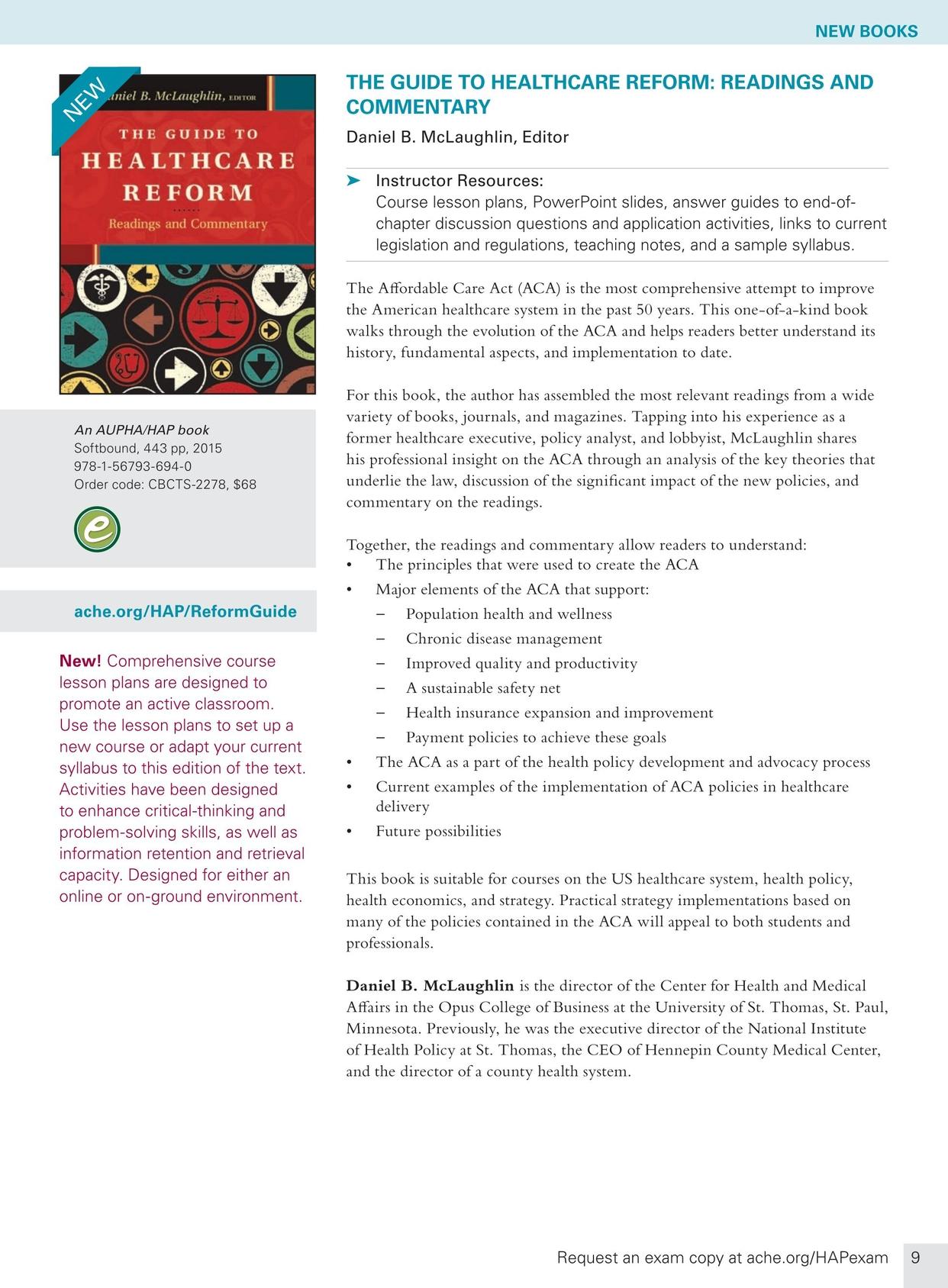 Health Administration Press Course Catalog Spring 2015 9 10