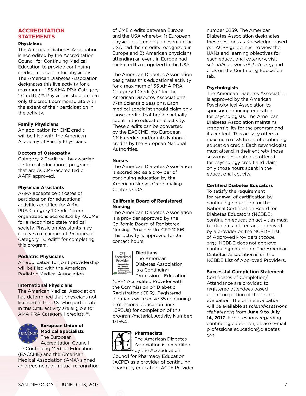 Scientific Sessions Advance Program 2017