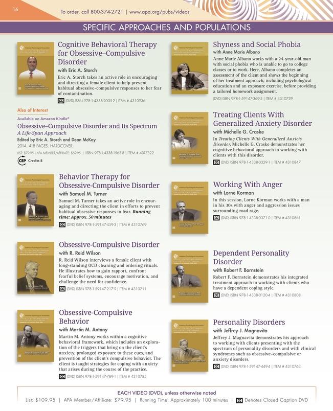 APA Videos - 2017 Catalog