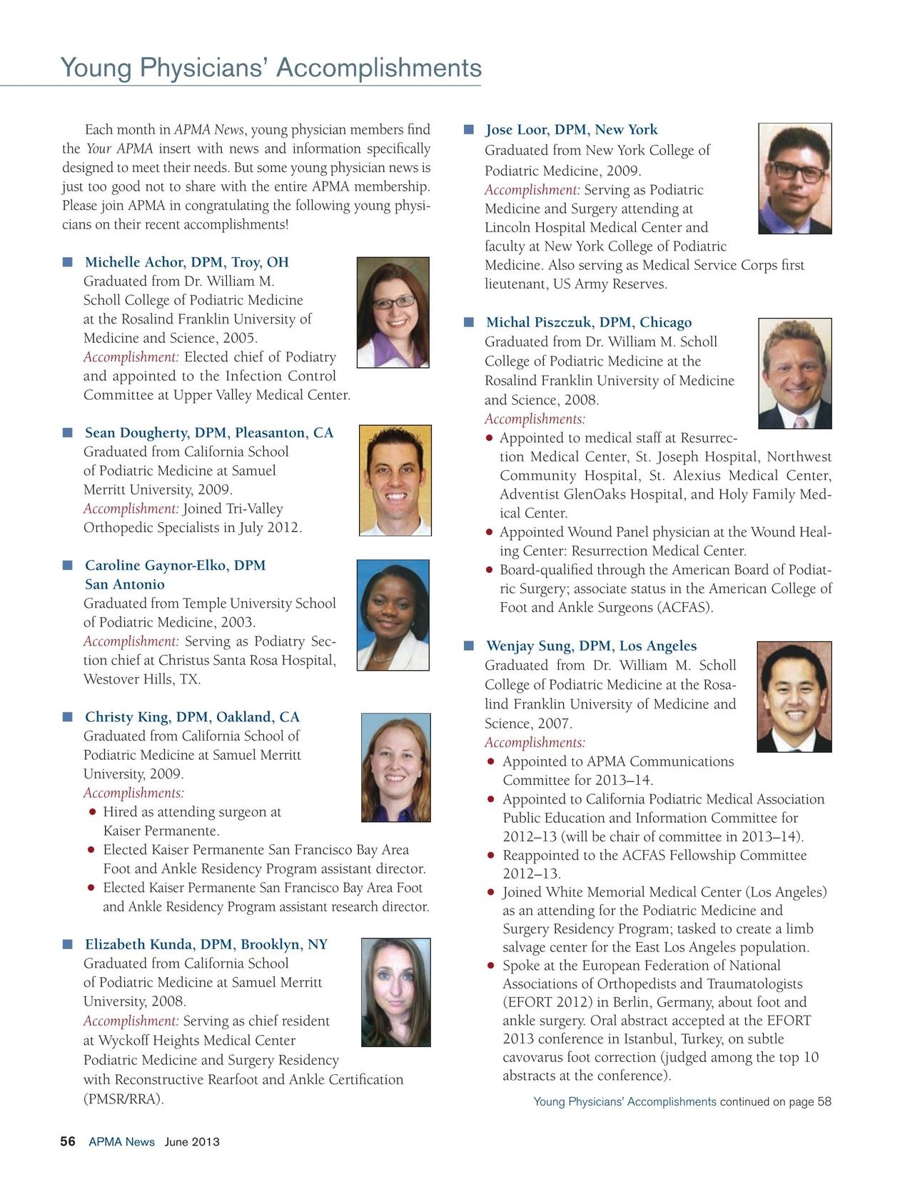 APMA News - June 2013
