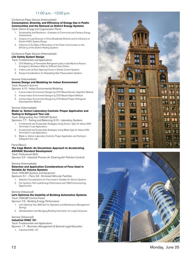 ASHRAE Meeting Planner - April 2018
