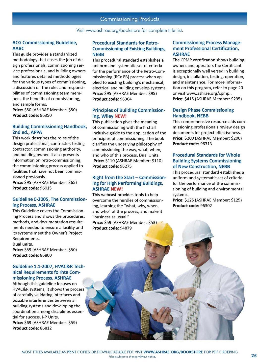 ASHRAE Publications Catalog - Summer 2010