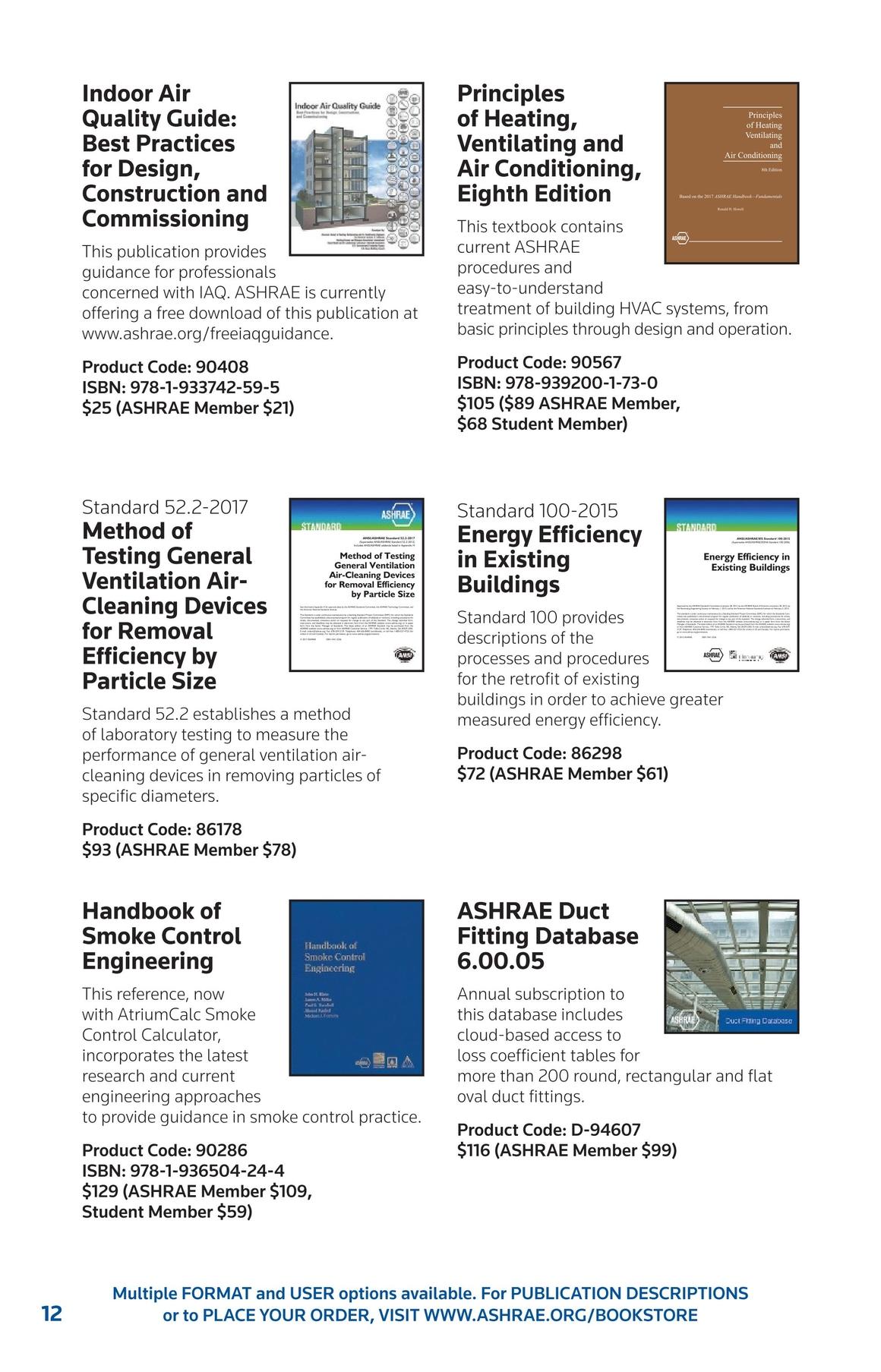 ASHRAE Publications Catalog - Summer 2017