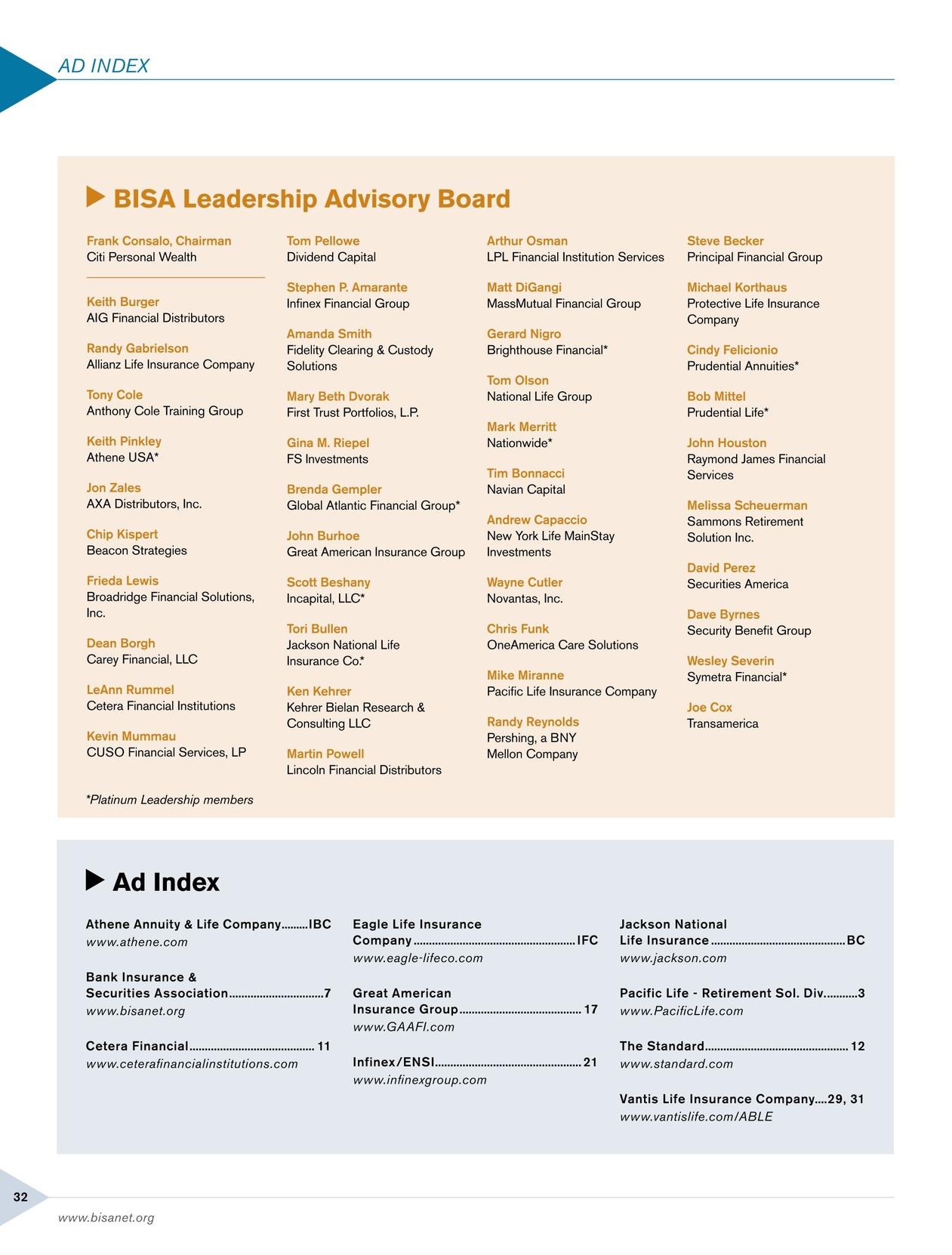 BISA Magazine - Quarter 1, 2017