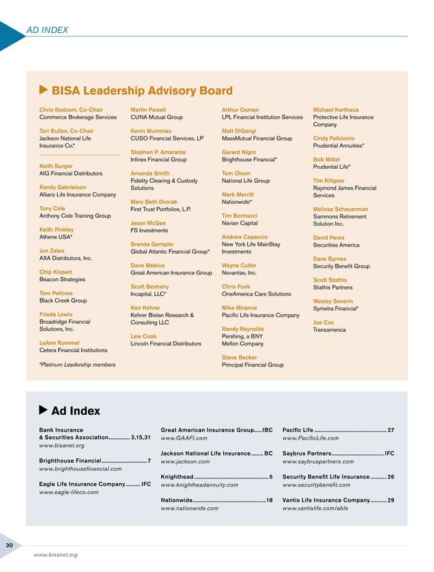BISA Magazine - Quarter 4, 2017