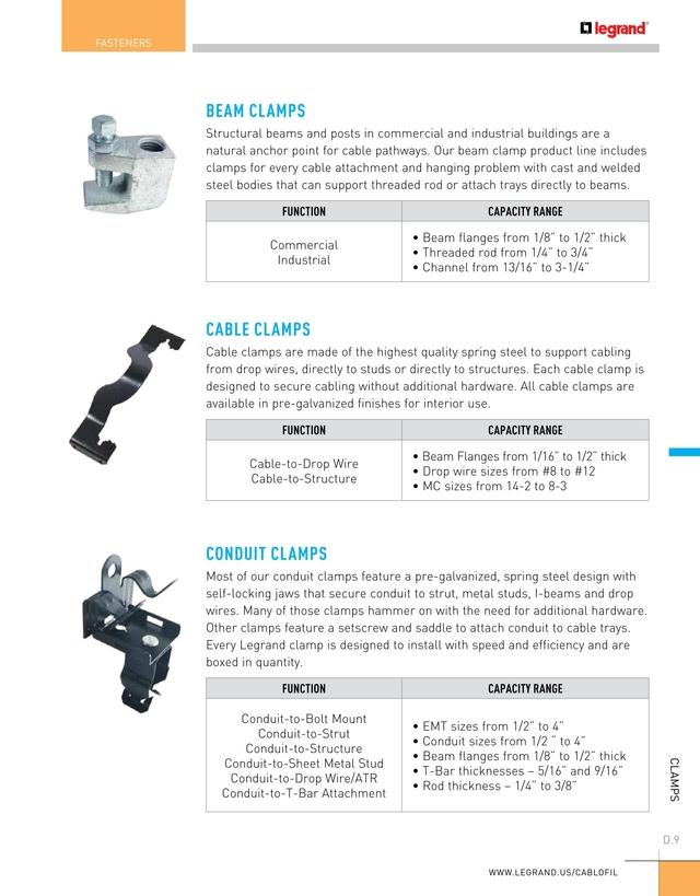 Cablofil Cable Management Catalog 2018 [D.6 - D.7]