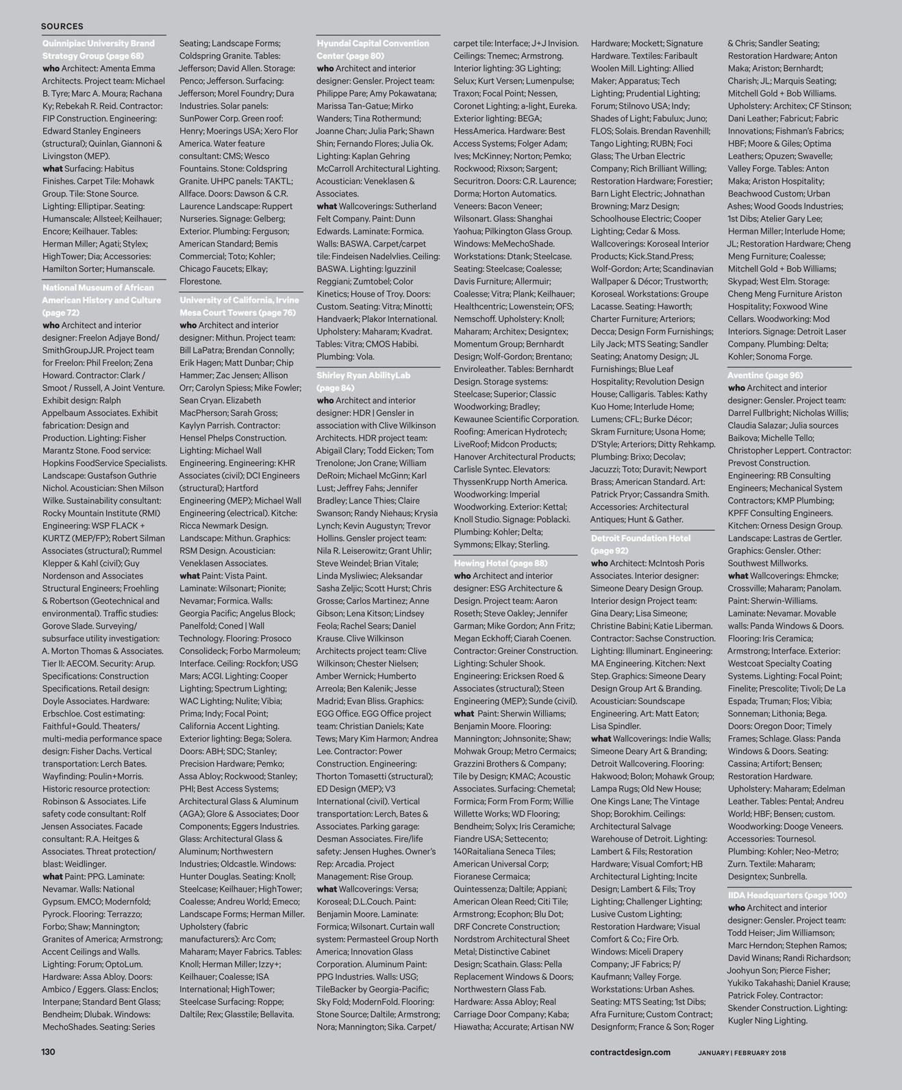 Contract Magazine - January/February 2018 [130 - 131]
