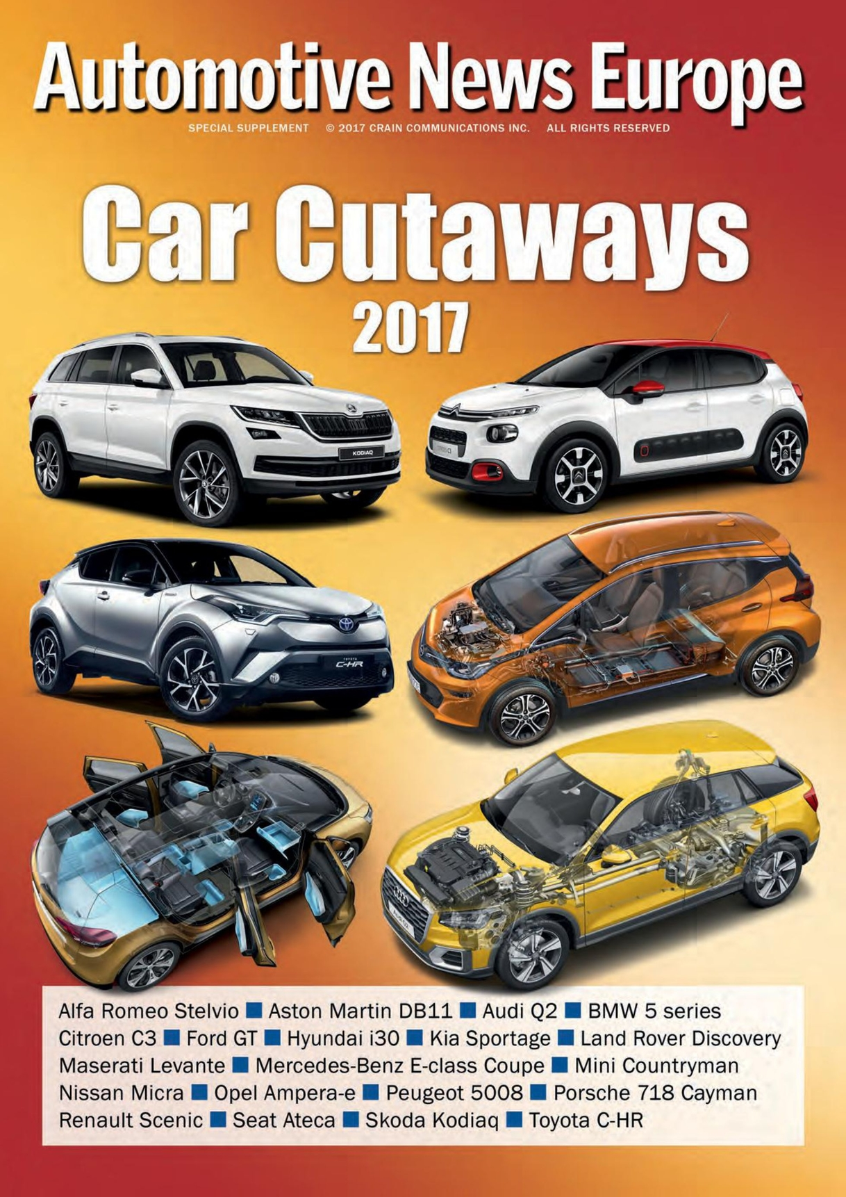 Automotive News Europe Car Cutaways Supplement