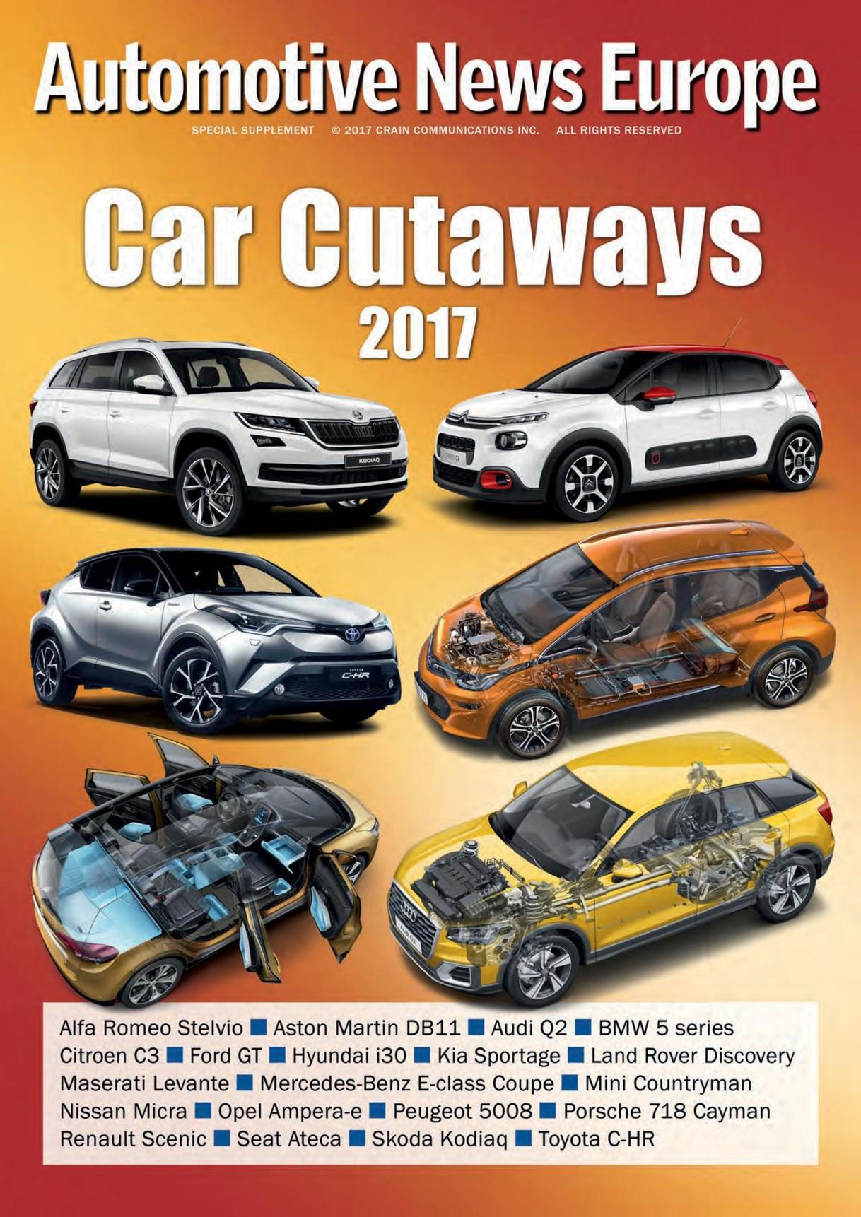 Automotive News Europe Car Cutaways Supplement Bolsa 3dsxl Cars Speed Circuit Gamees