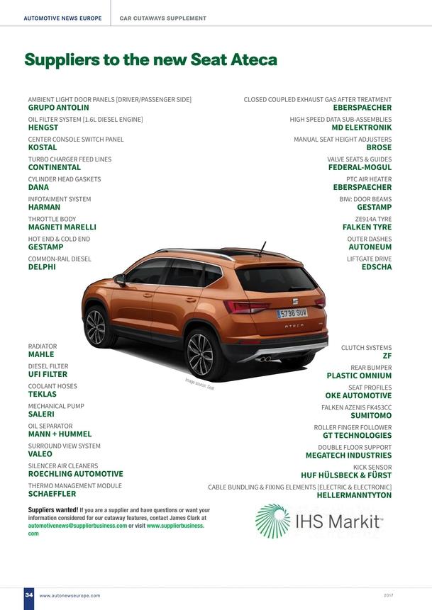 Automotive News Europe - Car Cutaways Supplement