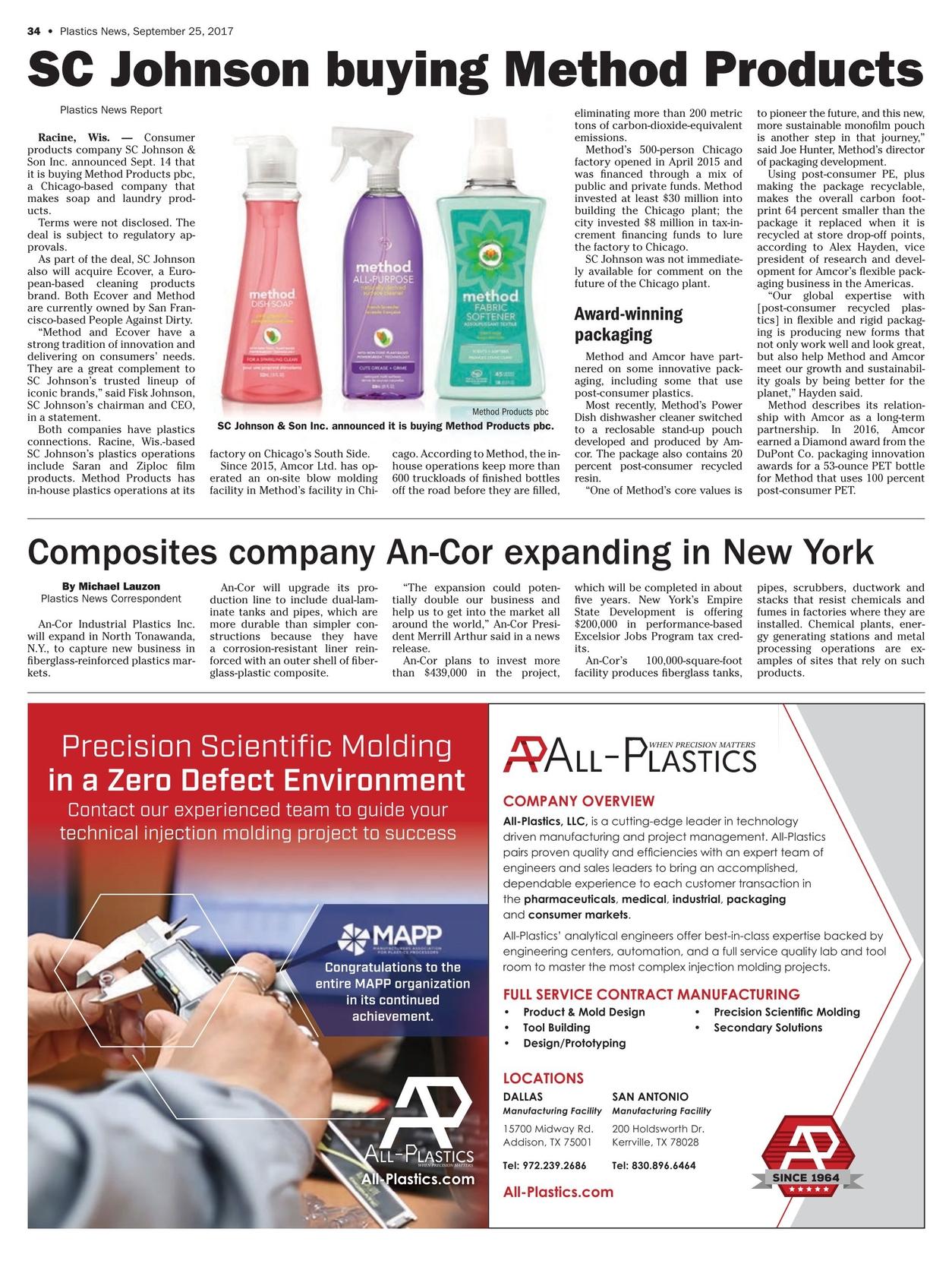 Plastics News - September 25, 2017