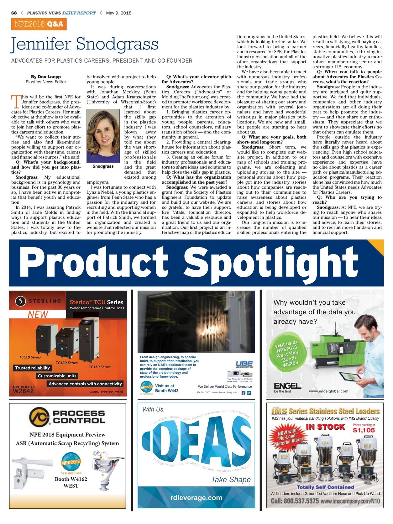 Plastics News Daily Report - May 9, 2018