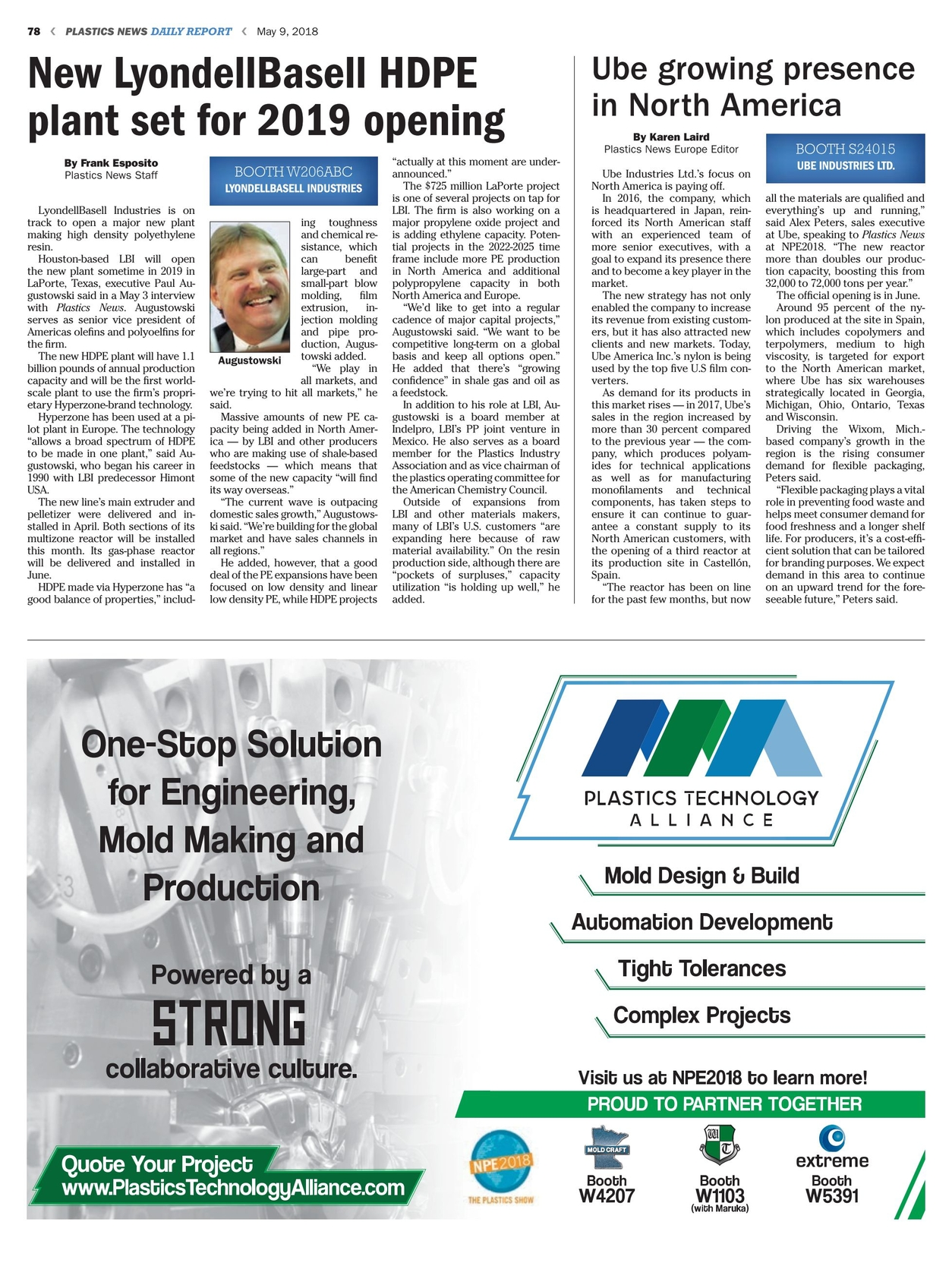 Plastics News Daily Report - May 9, 2018