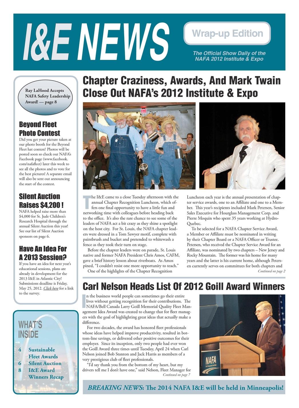 I&E News 2012 Wrap-up Issue