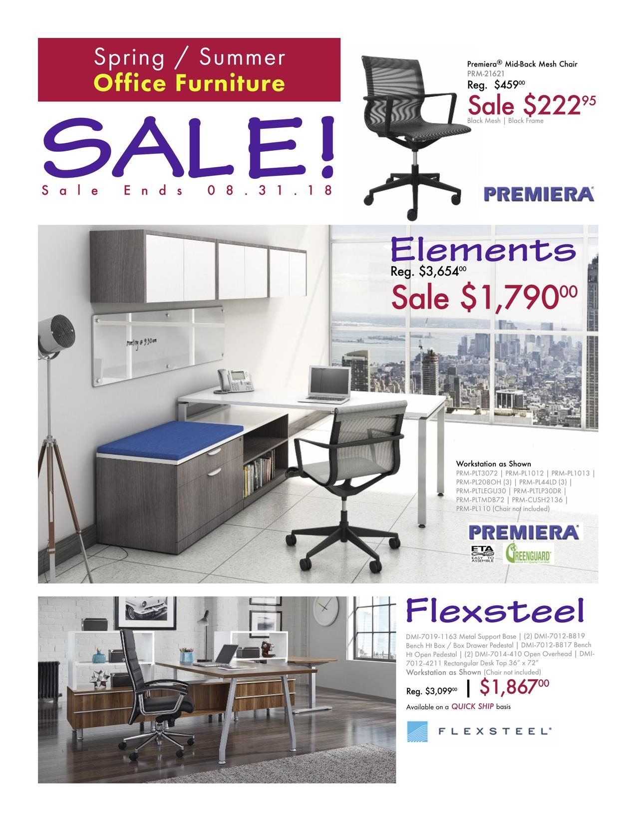 Office Furniture Sale Flyer Spring Summer 2018