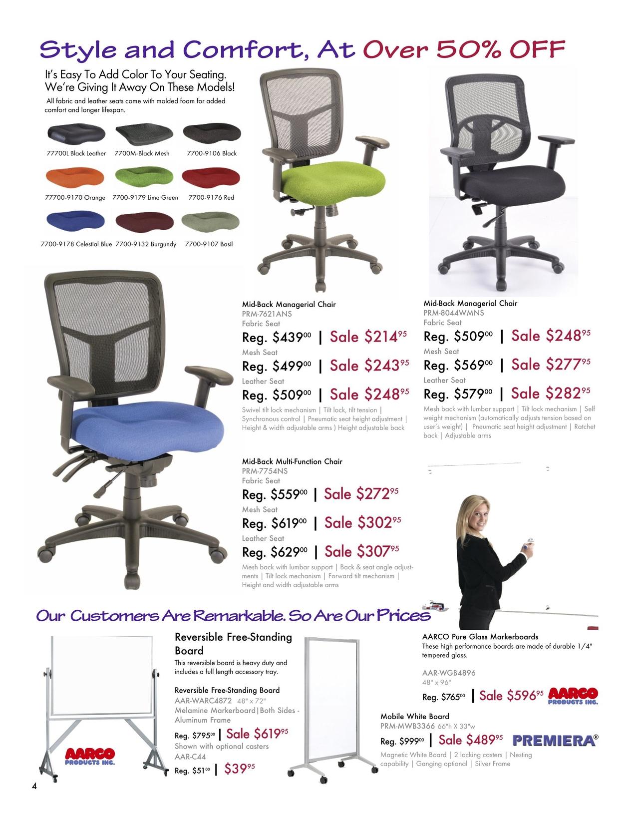 Office Furniture Sale Flyer   Spring/Summer 2018