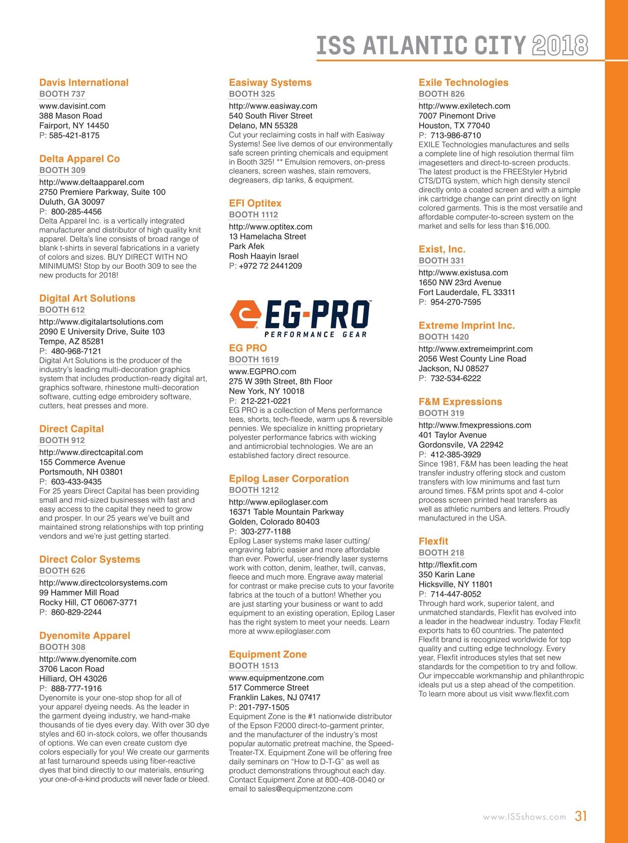 Iss Atlantic City Show Directory 2018