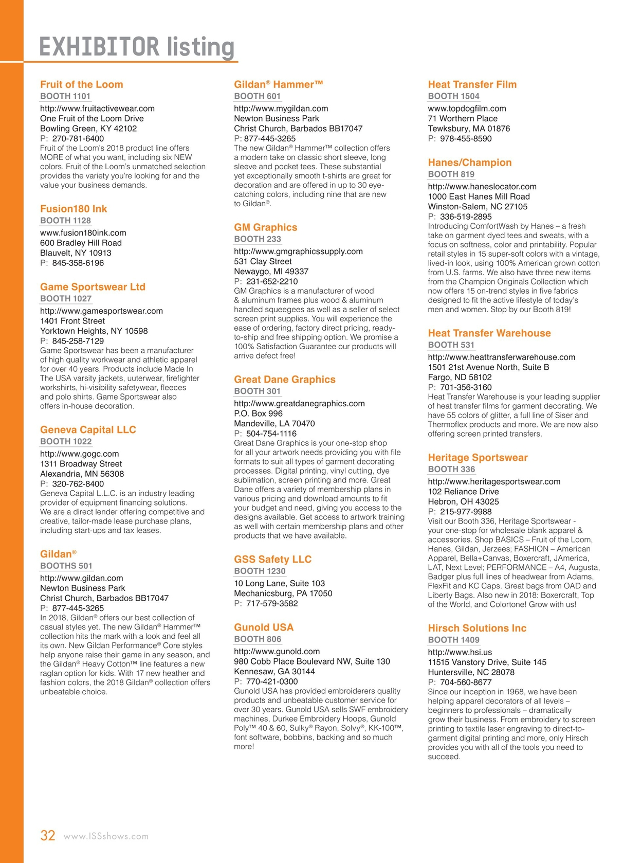 ISS Atlantic City Show Directory - 2018
