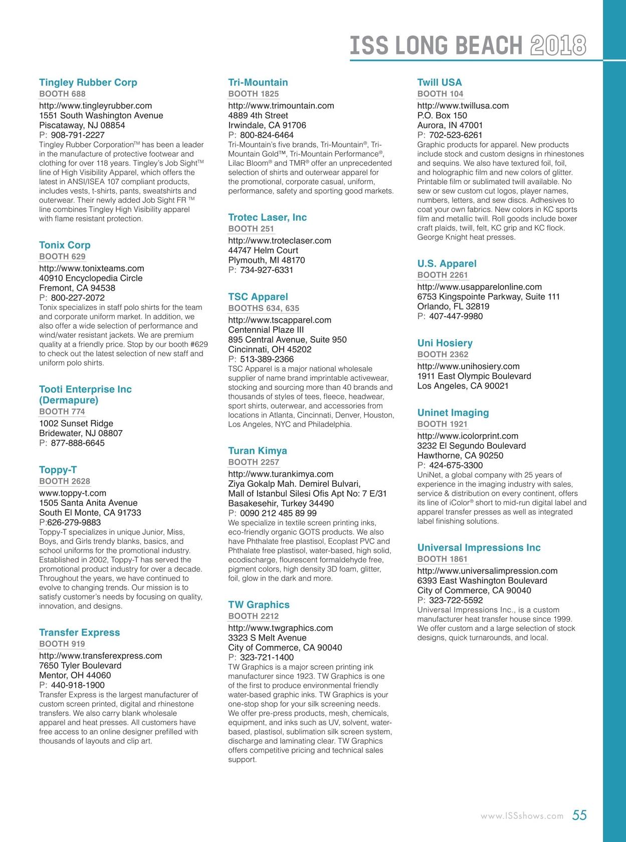 b97914c00d ISS Long Beach 2018 Show Directory