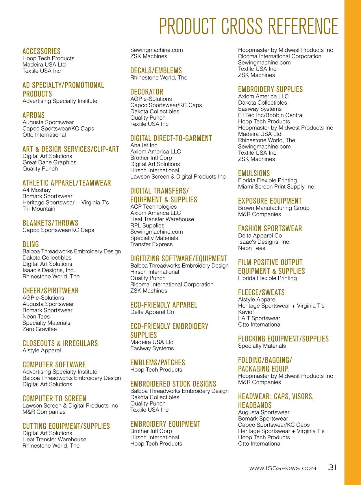 ISS Orlando 2014 Show Directory